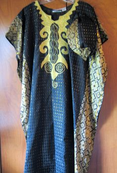 Halloween Costume African Caftan Robe New Cap Gold Embroider