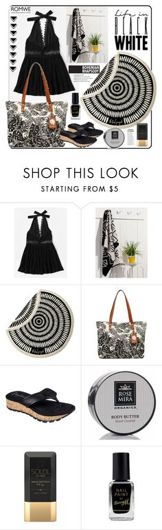 """""""Romwe."""" by natalyapril1976 ❤ liked on Polyvore featuring Simons Maison, The Beach People, Tommy Bahama, Skechers, Rosemira, Soleil Toujours and Barry M"""