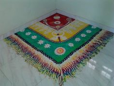 Beautiful corner rangoli