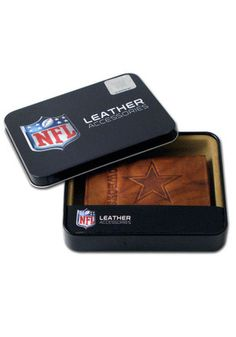 Cowboys Embossed Leather Trifold Wallet