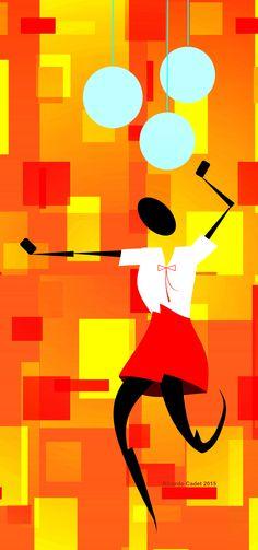 Mujer bailando sola  #arte #artecontemporáneo #diseño #desing #art #ilustracion #artedigital #ilustration #RicardoCadet #hechoenVenezuela #madeinVenezuela