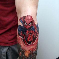 Fantastic Spiderman Tattoo Male Forearms