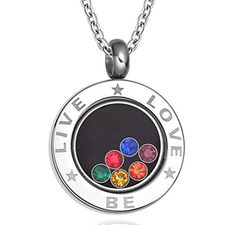 Aooaz Jewelry Unisex Lesbians Gays Stainless Steel Rainbow Love CZ Necklace Silver by Aooaz -- Awesome products selected by Anna Churchill