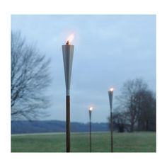 Modern Garden Torches And Fire Pits   Stainless Steel Torches  ... ($120)  Via Polyvore   Polyvore   Pinterest   Garden Torch