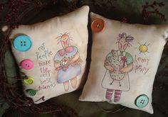 Lizziebusy Handmade: Primitive pillows design by Cheru
