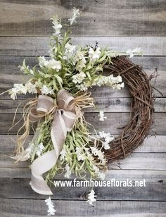 Front door wreaths, Summer wreaths, Home Decor wreaths, Wreath Great for All Year Round – Everyday Wreath, Cream floral Wreath – Grapevine Wreath İdeas. Summer Door Wreaths, Wreaths For Front Door, Winter Wreaths, Spring Wreaths, Holiday Wreaths, Wreath Hanger, Eucalyptus Wreath, Wedding Wreaths, How To Make Ribbon