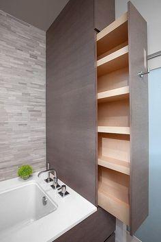 Like the use of space here. Plus, it's a secret shelf!