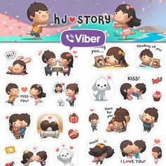 HJ-Story stickers finally made it to Viber for all those that've emailed asking about it!  You can get it at the viber sticker stores now and let HJ-Story be part of the daily messaging  HJS stickers are also available on Line messenger, BBM, Between and stay tune for it to come to new iMessage for ios too! #love #viber #cute #relationship