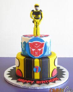 Bumblebee Transformers Cake....Joshs wedding cake :)