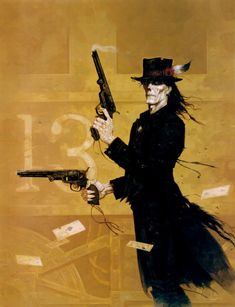 The Brom cover of the original Deadlands RPG