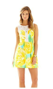 Sunglow Yellow First Impression. Lilly Pulitzer Raegan Dress. Perfect for a summer wedding