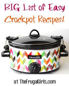 BIG List of Easy Crockpot Recipes from http://TheFrugalGirls.com