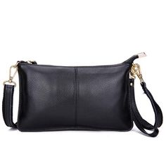 Genuine Leather Women Clutch Cowhide Envelope Organizer Purse