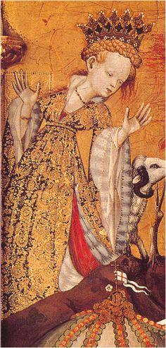 San Valero, Vall de Almonacid, Maestro del Centenar, segunda década del XV, Victoria and Albert Museum, Londres (detalle)