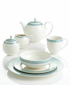 Monsoon Dinnerware Collection by Denby Lucille Teal Collection  sc 1 st  Pinterest & Monsoon Lucille Silver by Denby | Make a Home | Pinterest | John ...