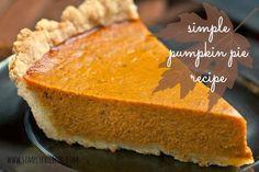 Pumpkin Pie | Recipe - Simply Elliott