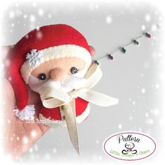Felt Christmas Ornaments PDF-Santa Claus by LittleThingsToShare