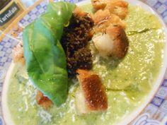 Crema de Calabacines con salsa de trufas negras – Crema di zucchine con salsa tartufata