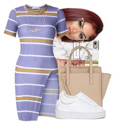A fashion look from August 2016 featuring blue t shirt, puma creeper and zip tote. Browse and shop related looks. Boujee Outfits, Swag Outfits For Girls, Teenage Girl Outfits, Cute Swag Outfits, Girls Fashion Clothes, Teenager Outfits, Dope Outfits, Teen Fashion Outfits, Cute Casual Outfits