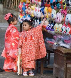 Shichi Go San-1 at Tsurugaoka Hachimangu. 7-5-3 festival for children to be blessed by the Shinto priest. Boys are 3 &5, girls are 3 & 7.