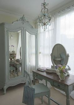 all the elements of a shabby bedroom