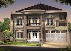 Hasil gambar untuk model rumah 2 lantai 2018 Houses, Mansions, House Styles, Home Decor, Loreto, Blue Prints, Homes, Decoration Home, Manor Houses