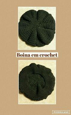 Boina em crochet usando a linha Duna da Círculo.