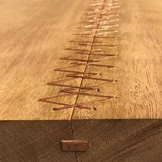 "1,114 tykkäystä, 13 kommenttia - Kevin Manville (@kevin_manville_design) Instagramissa: ""Copper spline works well to keep the slabs aligned and complements the stitching . There's no glue…"""