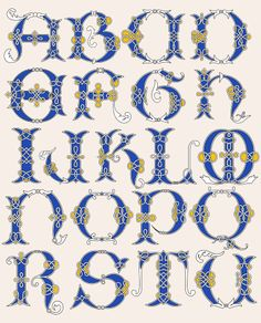 Celtic Alphabet Another Nice Set Of Lettering