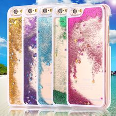 For iPhone 7 7 Plus Phone Cover Capa Glitter Bling Liquid Sand Star Quicksand Clear Hard Case For iPhone 6 6s Plus 4S 5C 5S SE