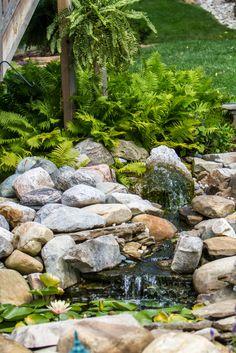 Wasserfall Im Garten Selber Bauen   99 Ideen, Wie Sie Die Harmonie Der  Natur Genießen | Mine | Pinterest | Pond Waterfall, Gardens And Garden  Water Features