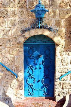 Door to Aladin Restaurant, Old Jaffa, Tel Aviv, Israel. http://www.cheaptickets.nl/bestemmingen/azie/israel/tel-aviv/