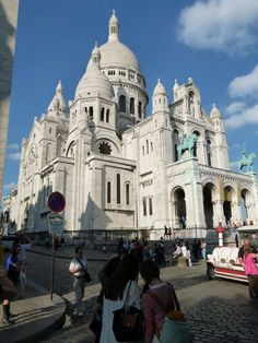 Sacre Coeur, Montmartre, Paris -- I saw a guy with a beret talking to an off-duty mime here.  Can't get much more French than that.