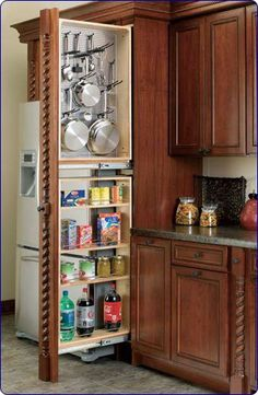"Rev-A-Shelf 434-TF39-6SS 39"" Tall Filler Organizer (left handed) - Wood/Stainless Steel-Natural by Rev-A-Shelf, http://www.amazon.com/dp/B0028C5AL2/ref=cm_sw_r_pi_dp_X8Oirb0DRZK5V"