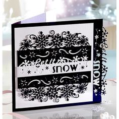 Die'sire Christmas Edge'ables - Let it Snow