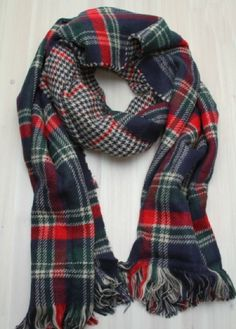 $19.99. Plaid Scarf - Navy.  http://www.cameofashion.com/collections/scarf/products/plaid-scarf-navy