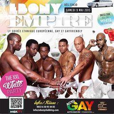 Ebony Party à Paris le  9 mai 2015 - Actu-Gay.eu EBONY PROD et ses Partenaires présentent:  ˙·٠•●♕ EBONY EMPIRE - THE XXL WHITE PARTY ♕●•٠·˙ IN PARIS  La Ebony XXL White Party, la soirée Ethnique Européenne, Gay et Gayfriendly!  BRASIL TROPICAL (REDLIGHT) PARIS   EBONY Prod revient à Paris avec son concept d'ouverture sur le principe des mixités.   ***UN CONCEPT UNIQUE:*** Le temps d'une soirée et autour des mixs des derniers tubes, les Gays, Lesbiennes ou simplement Gayfriendly, filles et…