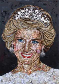 Princess Diana made from recycled bits and bobs from around the house