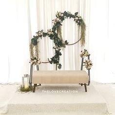 For Booking , Minimalist & Simple Pelamin Wedding Backdrop Design, Wedding Reception Backdrop, Simple Wedding Decorations, Wedding Mandap, Engagement Decorations, Backdrop Decorations, Simple Weddings, Backdrops, Pelamin Simple