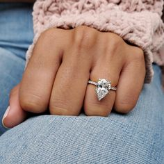 3 Stone Engagement Rings, Pear Shaped Engagement Rings, Engagement Ring Shapes, Perfect Engagement Ring, Engagement Ring Settings, Pear Diamond Rings, Pear Shaped Diamond, Diamond Bands, Radiant Cut Diamond