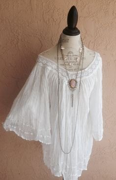 reserved for Jamie Gypsy gauze bohemian peasant dress ribbon details  tunic beach coverup oversized romantic lazy summer days