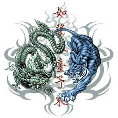 Risultati immagini per tiger and dragon yin yang shirt white Dragon Tiger Tattoo, Dragon Tattoo Drawing, Tiger Dragon, Demon Tattoo, Dragon Art, Samurai Tattoo, Dragon Tattoos, Wicked Tattoos, Great Tattoos