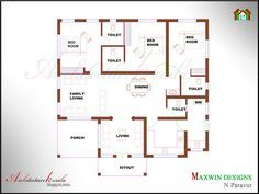 Architecture Kerala: 3 BHK SINGLE FLOOR KERALA HOUSE PLAN AND ELEVATION