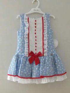 Baby Girl Dresses Diy, Baby Girl Dress Design, Baby Girl Frocks, Girls Dresses Sewing, Girls Frock Design, Stylish Dresses For Girls, Frocks For Girls, Little Girl Dresses, Baby Frocks Designs