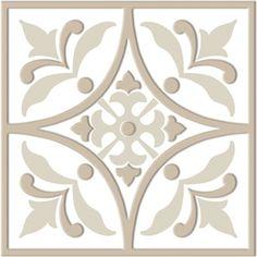 Bonne Ville- Decorative Tile- Brown on White 8'x 8'