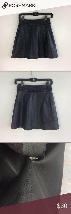 """Zara Leather Skater Skirt Not genuine leather. Like New 17"""" long. Zara Skirts A-Line or Full"""