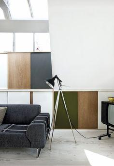 La maison de style Bahaus des artistes Ruth Campau et Michael Mørk // Source : bobedre.dk - Photo : Lars Kaslov