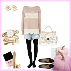 <3 PINK, LACEY FALL OUTFIT- DELICATE + ROMANTIC <3