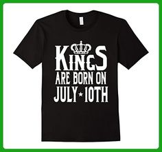 Mens Kings Are Born On July 10th Funny Birthday T-Shirt XL Black - Birthday shirts (*Amazon Partner-Link)