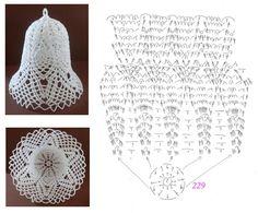 Crochet Ball, Thread Crochet, Crochet Doilies, Crochet Stitches, Crochet Angels, Crochet Stars, Crochet Snowflakes, Christmas Ornaments To Make, Christmas Bells
